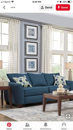 Pictures Of Living Room Sets . Fresh Pictures Of Living Room Sets . Pin by Jackie ortega On Home Projects In 2019 Home Design Living Blue Couch Living Room, Brown And Blue Living Room, Navy Living Rooms, Living Room Turquoise, Leather Living Room Set, Cheap Living Room Sets, Living Room Furniture, Rustic Furniture, Furniture Sets