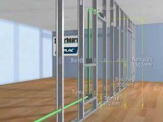 Instalación de redes en paredes de YESO (DRYWALL) Metal Stud Framing, Steel Framing, Diy Wooden Shelves, Wooden Diy, Metal Building Homes, Building A House, Steel Frame Construction, Building Systems, False Ceiling Design