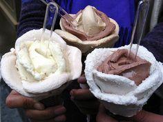 Flower Petal Ice cream