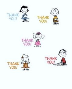'Thank You!', Charlie Brown and the Peanuts Gang.
