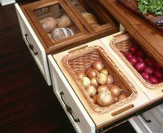 Love these kitchen storage drawer ideas! A great way to organize and store dry food items in your kitchen
