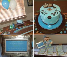 Monkey Boy Baby Shower Favors and Invitations