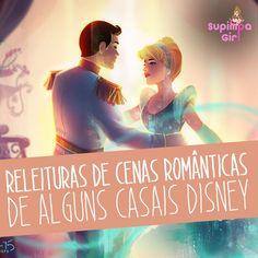 Releituras apaixonantes de cenas românticas de alguns Casais da Disney. Bora ler!