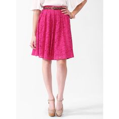 Lace Circle Skirt ($23) found on Polyvore