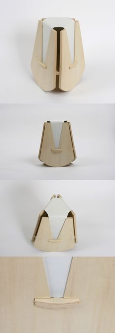 The Geometric Stool is named for its unique construction consisting of just five…