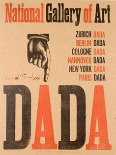DADA POINTY FINGER hand pulled letterpress poster print, limited edition from National Gallery of Art Design Graphique, Art Graphique, Marcel Duchamp, Pioneer House, Hans Richter, Dada Movement, Tristan Tzara, Design Visual, Kurt Schwitters
