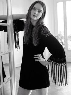 Little Black Dress con manga de flecos de Zara #Nochevieja2014 #Tendencias #Moda #Navidad2014