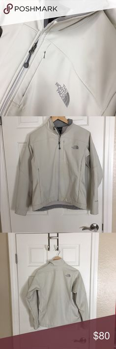 North Face Jacket / Coat Apex Cream Women's - Med Women's North Face APEX Jacket in Cream Color good pre-worn condition. Its has 3-4 subtle stains, barely noticeable in outdoor lighting. Super cute snow bunny favorite! ❄️🐰💕💖 The North Face Jackets & Coats