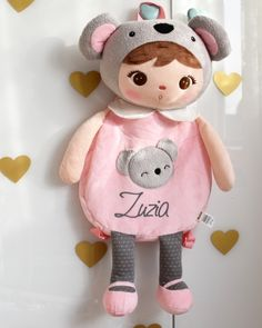 RUCKSACK | KOALABÄR Personalized Backpack, Cute Dolls, Kid Names, Hello Kitty, Backpacks, Fabric, Color, Fashion Styles, Cinch Bag