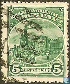 Uruguay - Locomotive of 1861. 1897