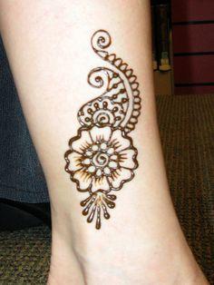 Henna ankle art