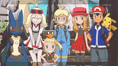 Anime Pokémon : Illustration Description Photo in geosenge town with korrina, lol Korinna, clement and bonnie have the same awesome smile, while Serena is really close to her future boyfriend ♥ Ash Pokemon, Pokemon Foto, Kalos Pokemon, Pokemon Ash And Serena, Pokemon Ash Ketchum, Pokemon People, Pokemon X And Y, Pokemon Ships, Pokemon Comics