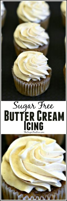 his is the recipe for sugar free butter cream icing. This is an easy recipe to make and is a delicious way to enjoy your favorite sugar free desserts. Read more at: thesugarfreediva. Sugar Free Deserts, Sugar Free Sweets, Sugar Free Recipes, Sugar Free Cakes, Sugar Free Foods, Weight Watcher Desserts, Sugar Free Frosting, Frosting Recipes, Buttercream Frosting