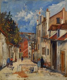 Sotheby's presents works of art by Maurice Utrillo. Browse artwork and art for sale by Maurice Utrillo and discover content, biographical information and recently sold works. An American In Paris, American Art, Maurice Utrillo, Blue Pigment, Montmartre Paris, Oeuvre D'art, Rue, Art Day, Art For Sale
