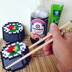 Sushi perler beads by  art_bits_bits