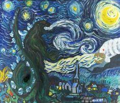 """Vincent van Godzilla's """"The Fiery Night"""""""