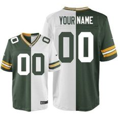 a39d4061c82 Men  s Nike Green Bay Packers Customized Green White Two Tone Elite Jersey