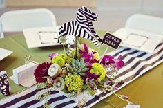 Zoo Wedding Centerpieces | zoo wedding, menu, animal centerpiece, origami centerpieces, seating ...
