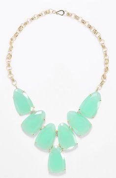 Minty statement necklace by Kendra Scott