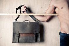Men's satchel bag by EMILISTUDIO.
