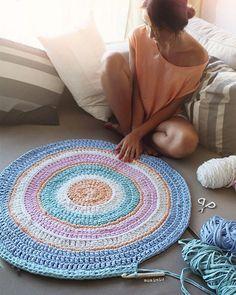 WEBSTA @ susimiu - Atardeceres en pastel #susimiu #pastel #cute #instagram #handmade #trapillo #crochet #kids…