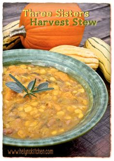 Three Sisters Harvest Stew: a sublime combination of flavors (gf, vegan).