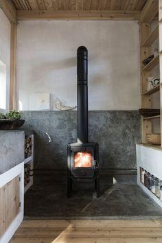wood burning fireplace. / sfgirlbybay