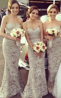 2015 Cheap Bridesmaid Dresses Lace Sweetheart Floor Length A Line Charming Sexy Party Dress