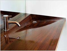 badkamer houten pompbak