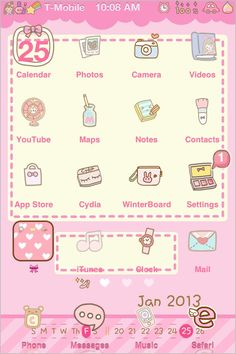 kawaii phone theme