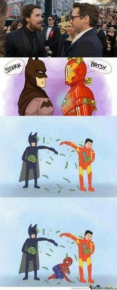Batman vs Ironman...ahahahha