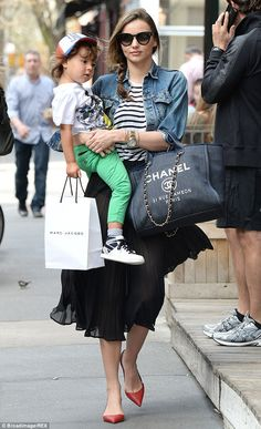 Happy birthday baby! The Victoria's Secret stunner celebrated her son Flynn's fourth birthday earlier this week, pictured in New York in April