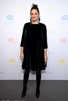 Maternity chic: Marion Cotillard, 41, dressed her baby bump to perfection as she attended ...