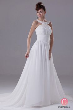 Only $164.9, Wedding Dresses Beaded High Neckline Long Chiffon Beach Wedding Dress with Train #OPH1142 at #GemGrace. View more special Wedding Dresses,Beach Wedding Dresses now? GemGrace is a solution for those who want to buy delicate gowns with affordable prices, a solution for those who have unique ideas about their gowns. 2018 new arrivals, shop now to get $10 off!