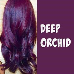 Hair color highlights plum lipsticks 57 Ideas for 2019 Magenta Hair, Violet Hair, Hair Color Purple, Hair Color And Cut, Ombre Hair, Deep Purple, Hair Colors, Deep Burgundy Hair, Dark Plum Hair