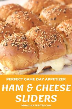 Ham Cheese Sliders, Ham And Cheese, Appetizer Ideas, Appetizer Recipes, Appetizers, Meal Recipes, Drink Recipes, Cooking Recipes, Delicious Snacks