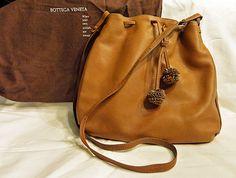 Bottega Veneta Italian Leather Handbag Vintage 1970′s