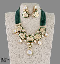 Kundan Jewellery available at Ankh Jewels for booking msg on Indian Jewelry Earrings, Fancy Jewellery, Indian Wedding Jewelry, Gold Jewellery Design, India Jewelry, Bridal Jewelry, Jewelery, Silver Jewelry, Wire Jewelry