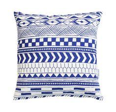 Alma Tatuada - Tribal Blue Throw Pillows, Quilts, Blanket, Interior Design, Design Interiors, Blankets, Cushions, Home Interior Design, Quilt Sets