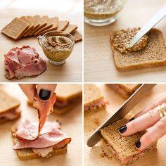 Ham + Whole Grain Mustard Tea Sandwich