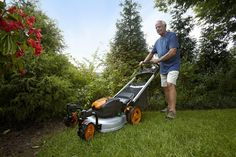 WORX Lithium-Ion Cordless Mower with Locking Caster Wheels, Types Of Lawn, Cordless Lawn Mower, Best Lawn Mower, Weeds In Lawn, Weed Control, Lawn Care, Locks, Outdoor Power Equipment, Wheels
