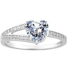 simple heart wedding rings