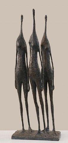 Pierre Yermia, 3 Figures Debout IV