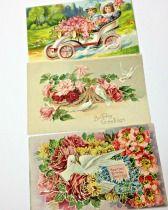 Victorian Postcard Trio Printed in Germany found via BellaRosaAntiques.com