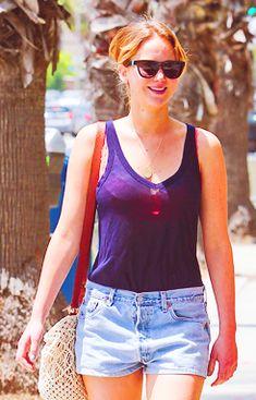 Jennifer Lawrence Hot, Tank Tops, Women, Style, Fashion, Swag, Moda, Halter Tops, Fashion Styles