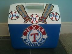 Texas Rangers painted cooler