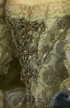 Marie-Thérèse-Raphaëlle de Détail du corps Bourbon, infante d'Espagne, Dauphine de France en 1745 (1726-1746) Klein Daniel, le Jeune (1672-1744)