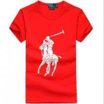 maglietta bianco big pony ralph lauren uomo in rossa.Polo Ralph Lauren camicie casual, grande rosso che sta dando un forte senso visivo.come contatto:Annapolo888@gmail.com