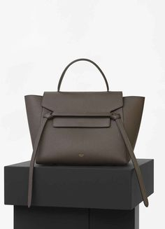 Mini Belt Bag in Dark Taupe Baby Grained Calfskin - Spring / Summer Collection 2016 Celine Handbags, Celine Bag, Celine Belt Bag Mini, My Bags, Purses And Bags, You Are My Superhero, Bucket Bag, Luxury Bags, Beautiful Bags