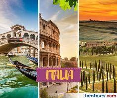 Viaje a #Italia con las mejores tarifas en aéreos del mercado o con nuestros paquetes completamente personalizados. No se pierda la oportunidad de vivir este destino majestuoso. Para reservar sus vuelos comuníquese al (212) 947-3131. #SomosLatinoamérica #TomTours #Europa
